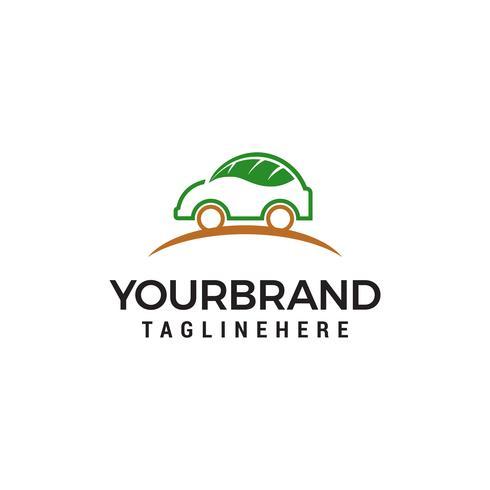 voiture feuille logo design concept template vecteur