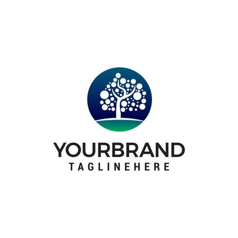Baum Punkt Logo Design Konzept Vorlage Vektor