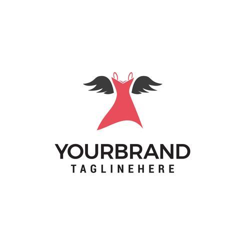 vêtements pour femmes logo design concept template vecteur
