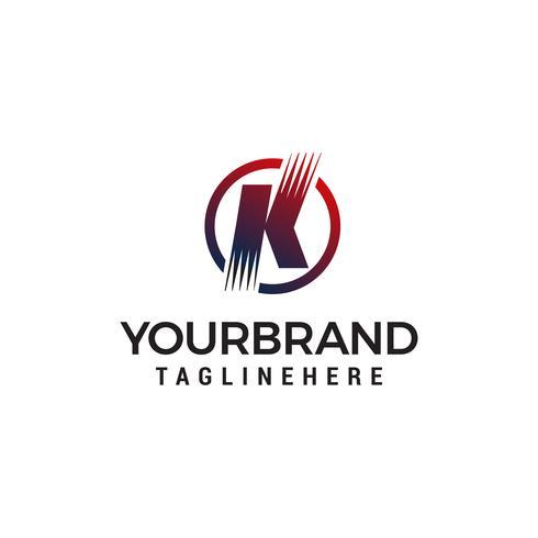 letra k tecnologia logotipo design conceito modelo vector