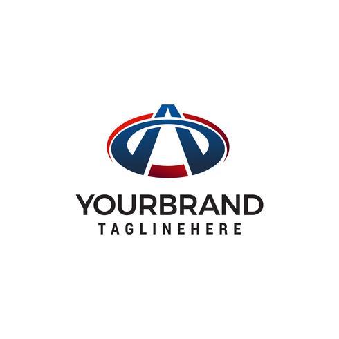 lettre un modèle de logo design concept vecteur