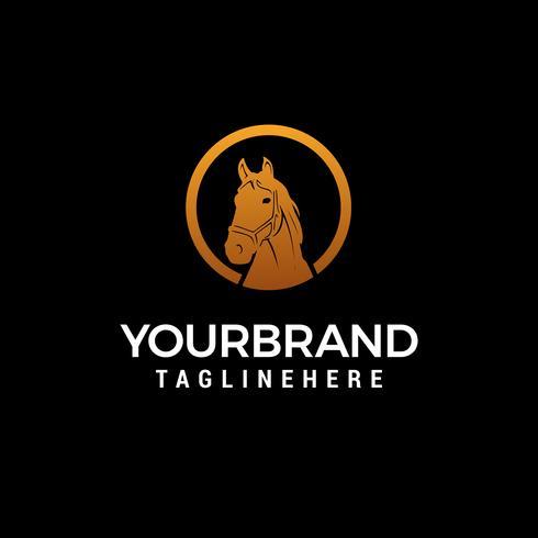 paard hoofd logo ontwerp concept sjabloon vector