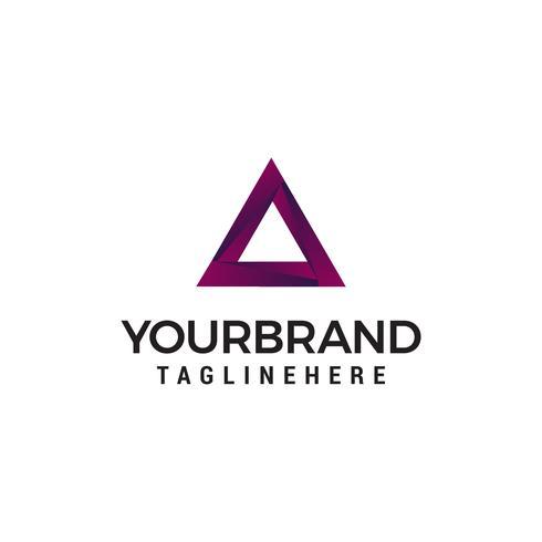 Triangel logo diseño concepto plantilla vector
