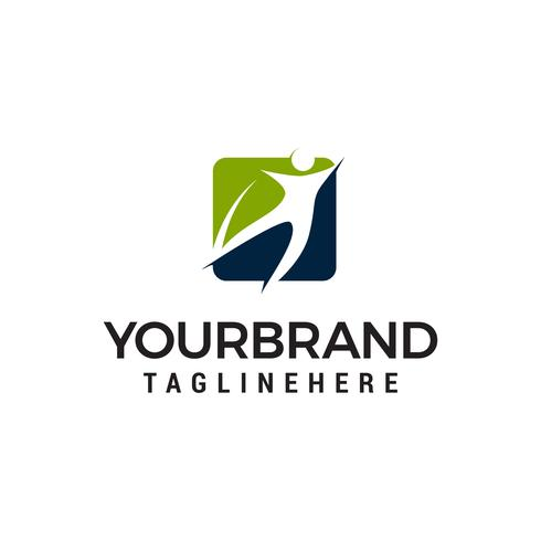 personnes saines logo design concept template vecteur