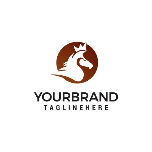 vetor de modelo de conceito de design de logotipo de cavalo cabeça