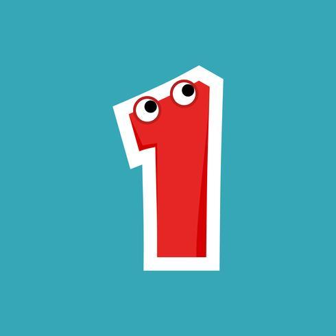 Alphabet Cartoon Font For Kids vector