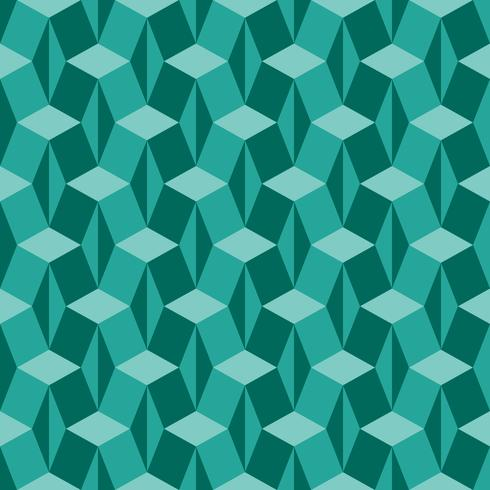 Fascinating Isometric Geometry Pattern	 vector