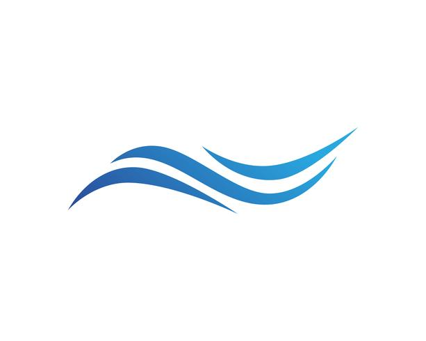 Water Wave symbol and icon Logo Template vector. vector