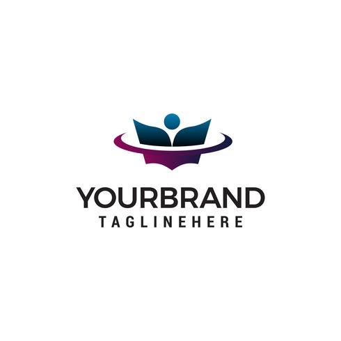 onderwijs logo ontwerp concept sjabloon vector