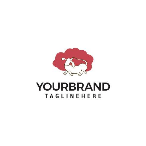 chien laver logo design concept template vecteur