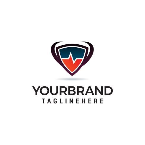 medical logo design concept template vector