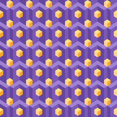Magnetize Isometric Geometry Pattern vector