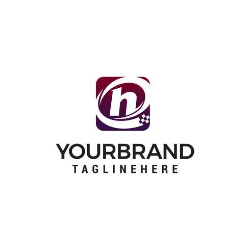letra H tecnologia logo design conceito modelo vector