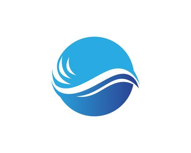 Waves beach logo y símbolos plantilla de aplicación de iconos .. vector
