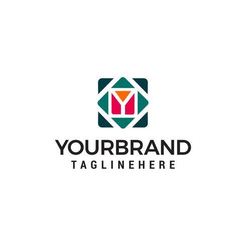 letter y cube logo design concept template vector