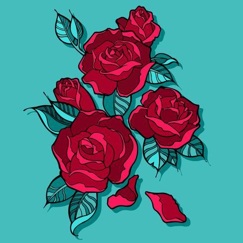 Beautiful Red Roses Bouquet - Download Free Vectors, Clipart Graphics & Vector Art
