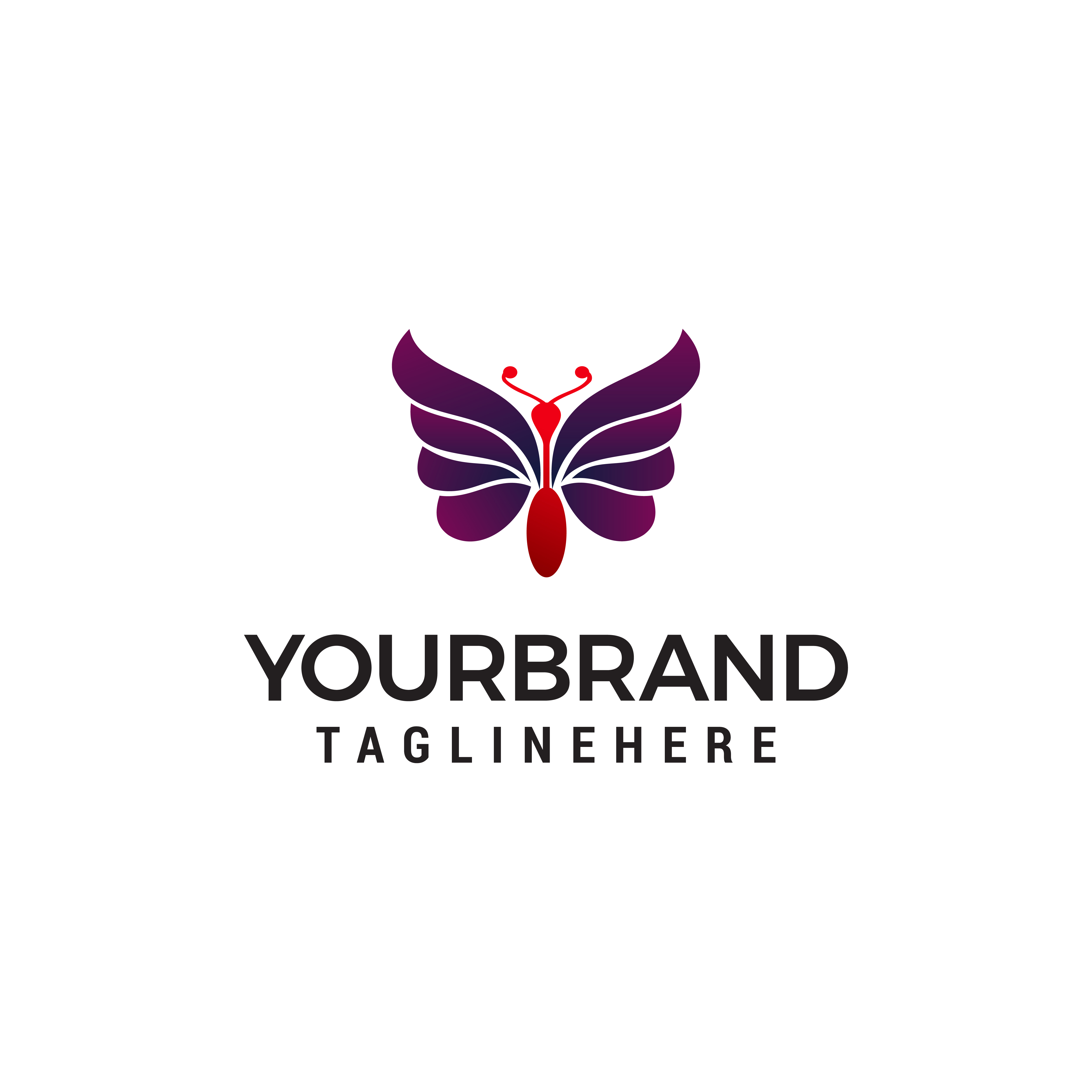 Abstract Butterfly logo template. simple Vector logo illustratio - Download Free Vectors ...