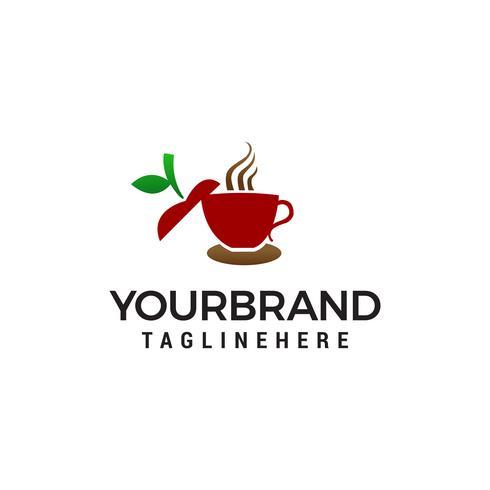 apple tea logo design concept template vecteur