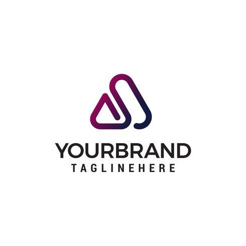 letter A abstract logo design concept template vector