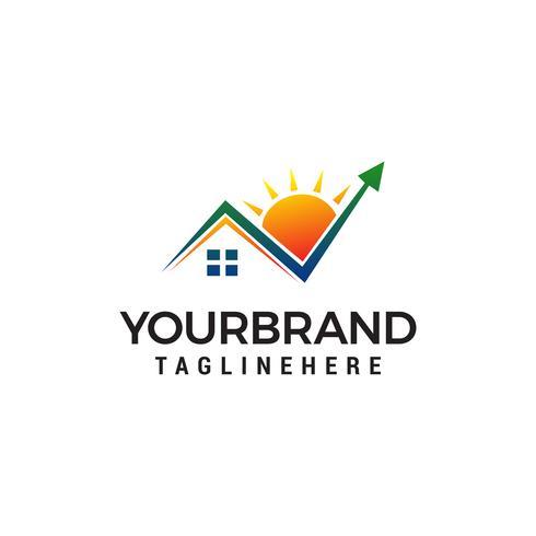 Marca de verificación Home Logo diseño concepto plantilla vector