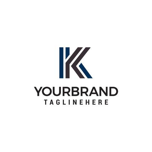 letra k tecnology logo design conceito modelo vector