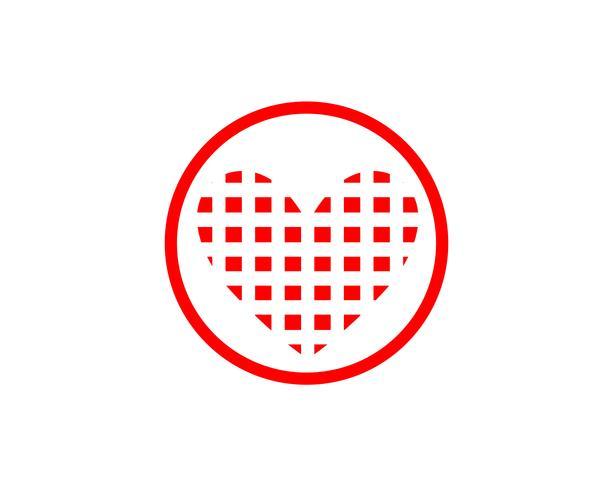 Amor iconos rojos Logo y símbolos Vector plantilla