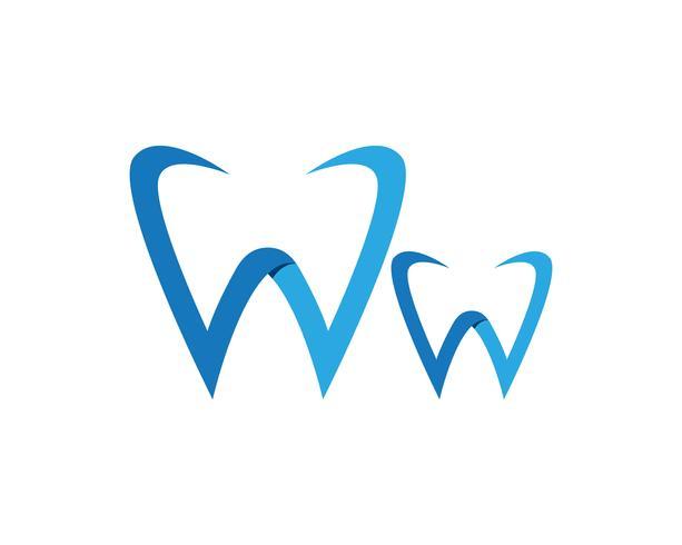 Aplicación de iconos de logotipo y símbolos de atención dental