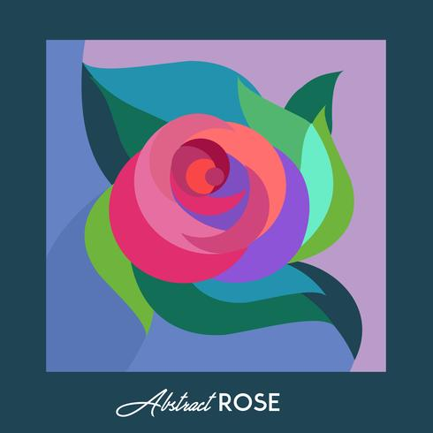 Greeting card with Abstract Rose  vector