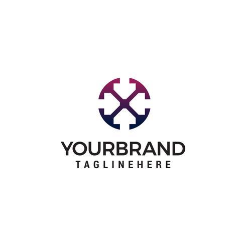 pijl logo ontwerp concept sjabloon vector