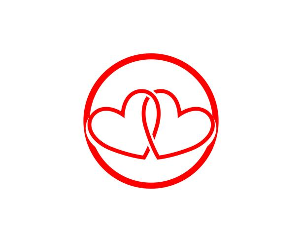 Love red icons Logo and symbols Vector Template