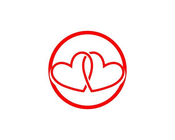 Lieben Sie rote Ikonen Logo und Symbole Vektor-Schablone