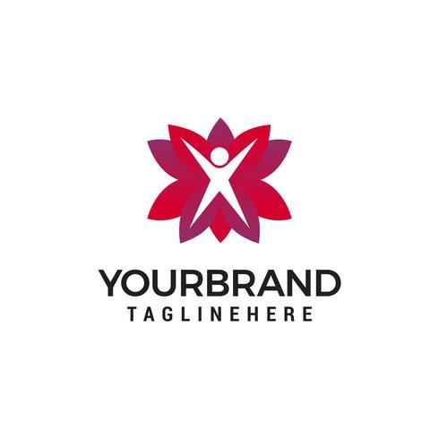 vie saine logo design concept template vecteur