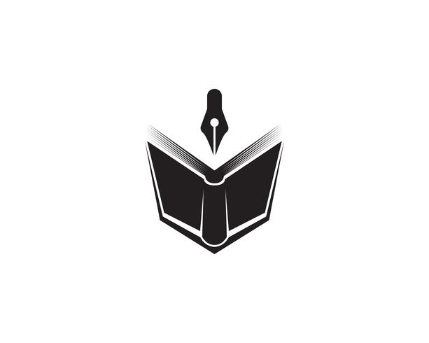Book reading logo and symbols template icons app vector