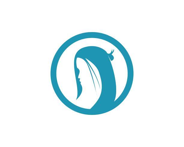 cheveux femme et visage logo et symboles ,,