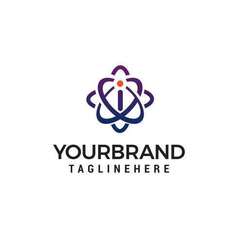 letter i technologie logo ontwerp concept sjabloon vector