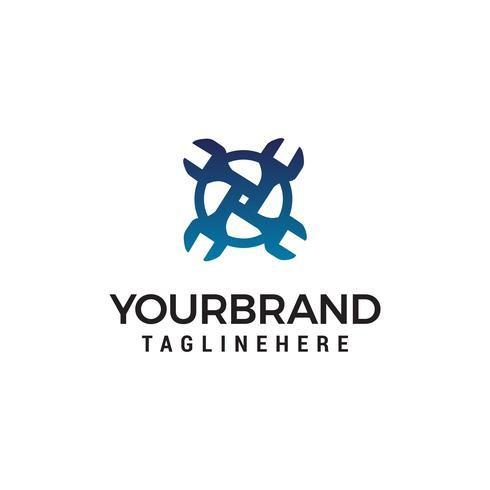 vector de plantilla de concepto de diseño de logotipo de llave