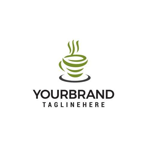 Green Tea Logo Design Concept Template Vector Download Free Vectors Clipart Graphics Vector Art
