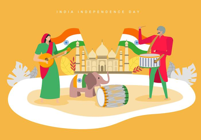 People Celebrating India Independence Day