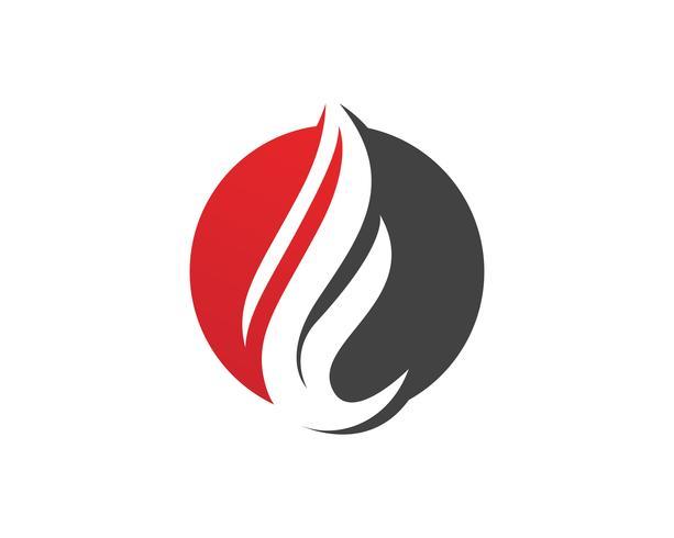Plantilla de iconos de logotipo y símbolos de la naturaleza de la llama de fuego vector