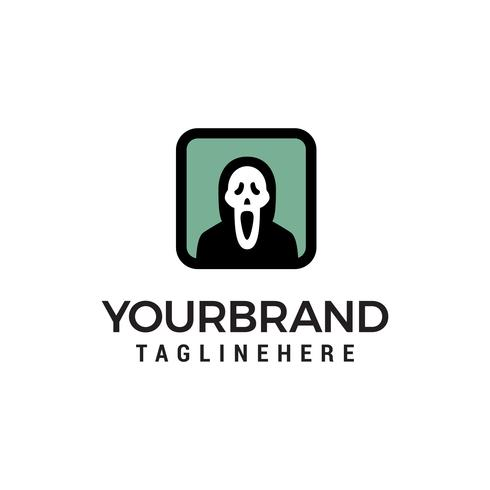 Ghost Logo Design Konzept Vorlage Vektor