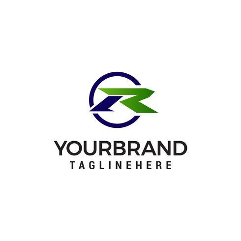 letra R logotipo moderno design conceito modelo vector