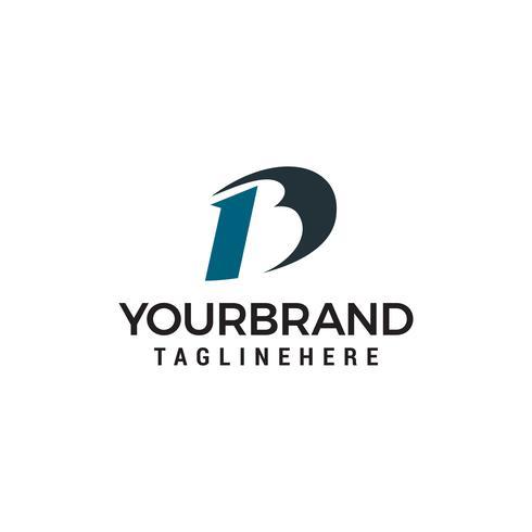 Buchstabe B abstrakte Logo Design Konzept Vorlage Vektor