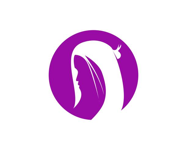 haar vrouw en gezicht logo en symbolen ,, vector