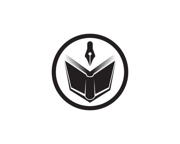 Book reading logo and symbols template icons app