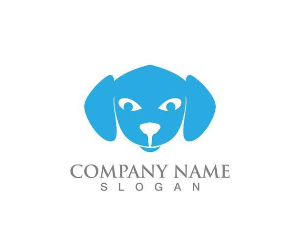 Plantilla de logotipo de siluetas de vectores de perros y gatos