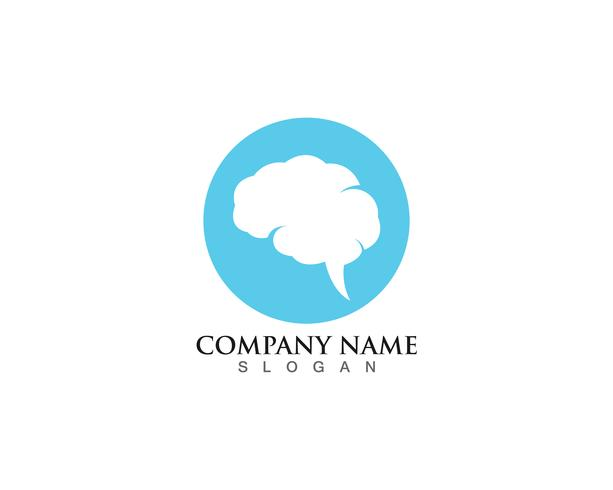 Brain Logo Template and symbols icons app