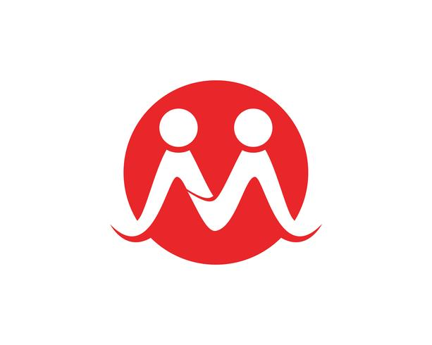 Antagande och samhällsvård Logo mall vektorikon,