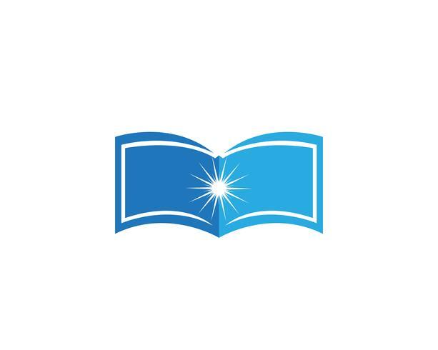 Libro de lectura logo y símbolos de la aplicación de iconos de plantilla vector