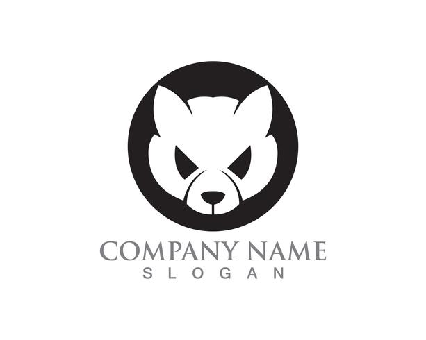 Kat en hond vector silhouetten logo sjabloon