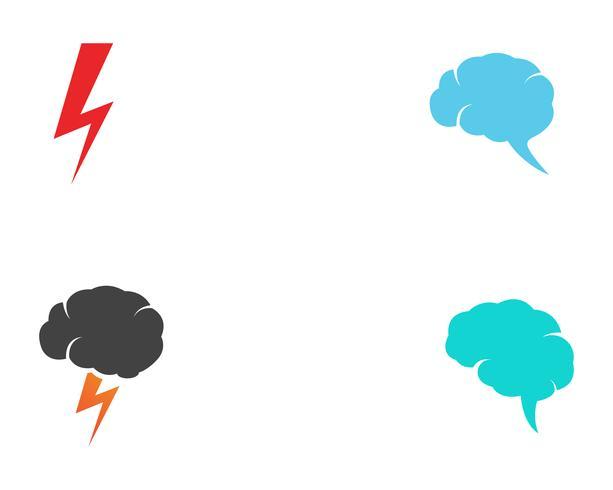 modelo de logotipo de raio de flash vetor